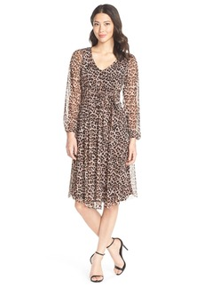 Cynthia Steffe 'Avery' Animal Print Jersey Faux Wrap Dress