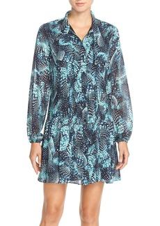 Cynthia SteffePrint Chiffon Shirtdress