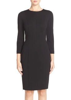 Cynthia Steffe 'Zoe' Seamed Ponte Sheath Dress