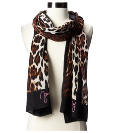 Juicy Couture Juicy Script Leopard Silk Scarf