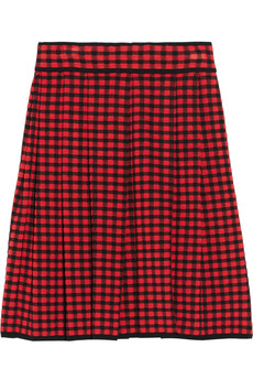 M Missoni Plaid jacquard-knit skirt