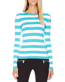 Striped Cotton Tee   Striped Cotton Tee