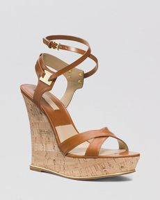 Michael Kors Open Toe Platform Wedge Sandals - Shana