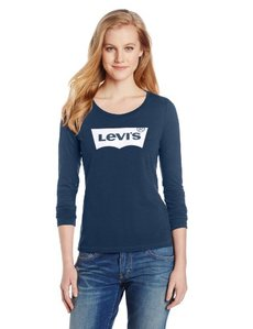 Levi's Women's Batwing Classic Fit Long Sleeve Slub Crew