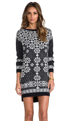 Juicy Couture Geo Snowflake Dress in Charcoal