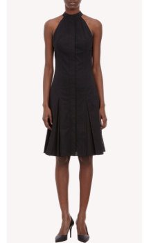Proenza Schouler Dot-Perforated Poplin Halter Dress