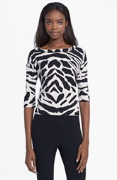 Tracy Reese Graphic Stretch Cotton Tee