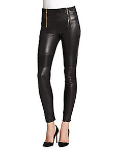 J Brand Emmi Leather Moto Pants