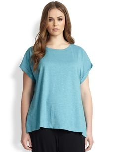 Eileen Fisher, Sizes 14-24 Scoopneck Tee