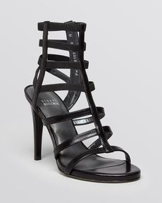 Stuart Weitzman Open Toe Gladiator Sandals - Cleo High Heel