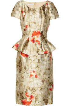 Oscar de la Renta Floral-print silk-blend dress