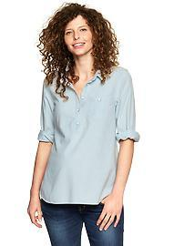 Three-quarter chambray shirt
