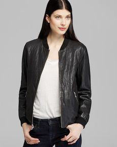Marc New York Jacket - Vicki Varsity Leather Bomber