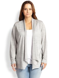 Eileen Fisher, Sizes 14-24 Shaped Cardigan