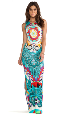 Mara Hoffman Fitted Column Dress in Turquoise