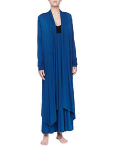 Liquid Jersey Wrap Robe, Mazarine Blue   Liquid Jersey Wrap Robe, Mazarine Blue