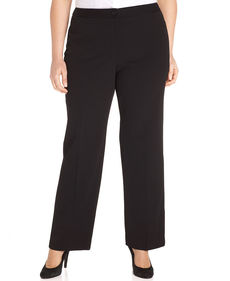 Charter Club Plus Size Slim It Up Straight-Leg Pants