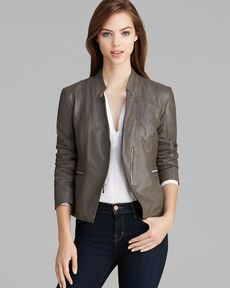 Laundry by Shelli Segal Jacket - Leather Asymmetric