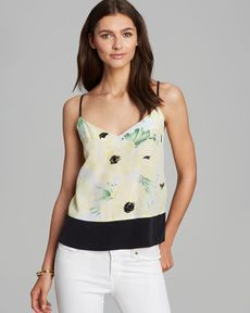FRENCH CONNECTION Cami - Holiday Poppy Silk
