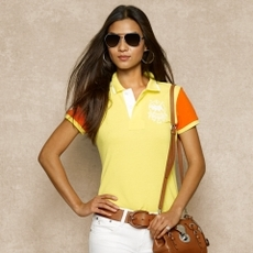 Color Block Mesh Polo