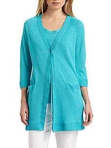 Lafayette 148 New York Long One-Button Cardigan