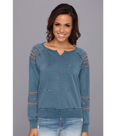 Lucky Brand Indio Embroidered Pullover