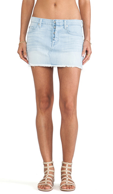 Hudson Jeans Anya Mini Skirt in The Hustle