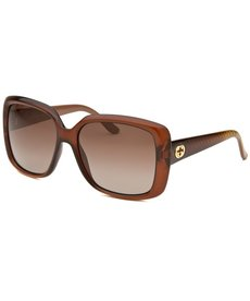 Gucci Women's Square Brown Sunglasses