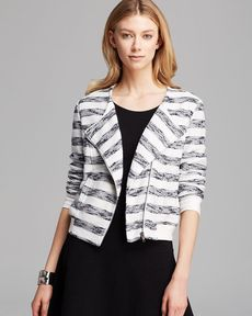 Sanctuary Striped Zip Front Jacket