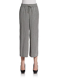 Ellen Tracy Wide-Leg Cropped Pants