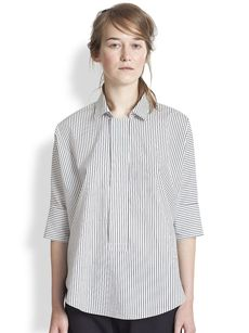 Marni Striped Polo Blouse
