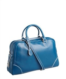Marc Jacobs blue leather 'Venetia' push lock satchel