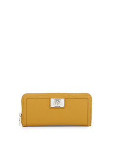 Moschino Giallo Zip Saffiano Faux-Leather Wallet, Yellow