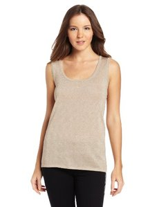 Calvin Klein Women's Metallic Sweater Shell