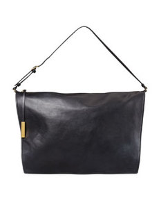 Faux-Napa Big Shoulder Bag, Black   Faux-Napa Big Shoulder Bag, Black