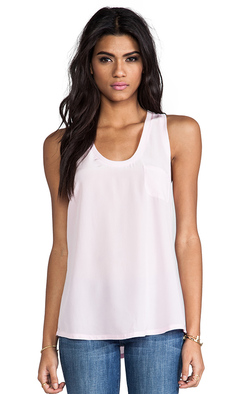 Joie Alicia Silk Tank in Pink