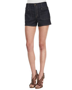 Brendan Raw Denim Shorts   Brendan Raw Denim Shorts