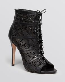 Alice + Olivia Open Toe Booties - Gale High Heel