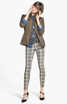 Laundry by Shelli Segal Jacket, Halogen® Cashmere Sweater & KUT from the Kloth Plaid Skinny Jeans