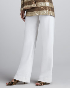 Joan Vass Boot-Cut Pants, Classic