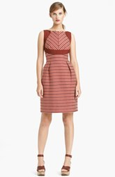 Lida Baday Sleeveless Stripe Jacquard Dress