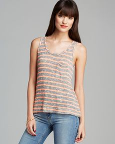 C&C California Tank - Loose Knit Stripe