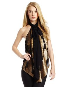 Robert Rodriguez Women's Distressed Sequin Top