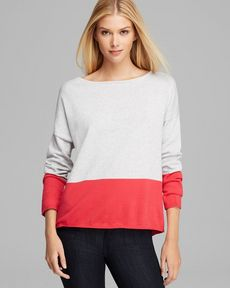 Joan Vass Color Blocked Pullover