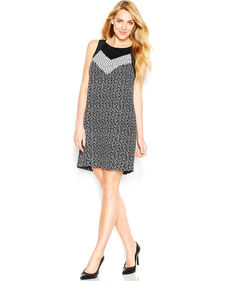 kensie Printed Shift Dress