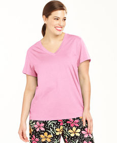 HUE Plus Size Short Sleeve Top
