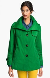Ellen Tracy Stand Collar A-Line Jacket (Petite) (Nordstrom Exclusive)
