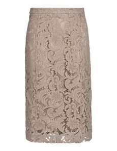 BURBERRY LONDON Lace Solid color Mid Rise Zip Rear slit Detachable inner Tube dress Lace Woven