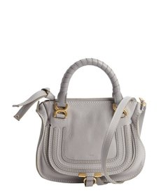 Chloe cashmere grey lambskin 'Marcie' mini crossbody bag