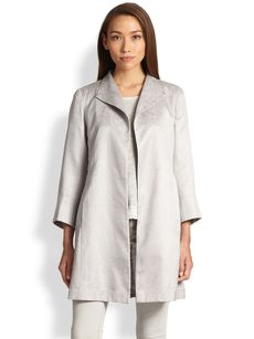 Eileen Fisher Shimmer Jacquard Coat